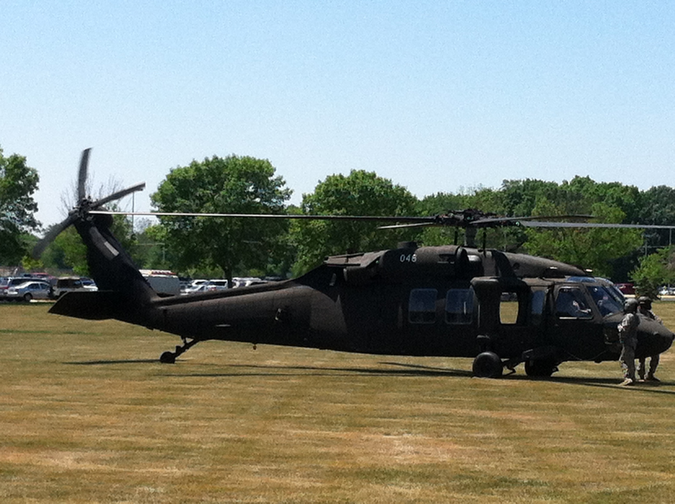 Blackhawk Helicopter at WCHS