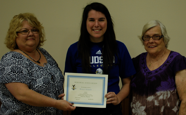 Molly Studer $500 Lady's Auxillary of The Eagles Scholarship Recipient 2012