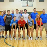 The Shoop Sports and Youth Foundation held its annual Tournament of Champions Saturday at North Webster Elementary School. Shown are the scholarship winners, in front from left, Micaela Sylvester, Emily Hickerson, Kelci Freds and Amy Walker. In the middle row TOC staff members Gretchen Willaman and Jace Stewart, scholarship winners Derek Freds, Brian Willoughby, Jordan Berkey and Derek Snep, and TOC staff members Dan Gause and Brett Willaman. In the back row are TOC staff members Mitch Willaman, Keith Bollman and Stephen Possell.
