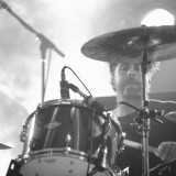 Papa Roach drummer Tony Palermo hits the skins during the Thursday night set at Piere's.