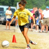Leanza Reyes cruises around the soccer course during the Tournament of Champions.