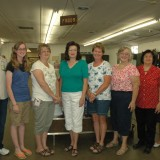 FOODS - Open class winners of the foods division at the Kosciusko County Community Fair, from left are Jeanne Weirick, Leah Engle, Bobbi Barnes, Susan Gochenour, Leslie Darr, Diann Slaymaker, Maria Miller (Best of Show), and Sandra Blanchard.