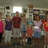 FINE ARTS - Open class winners of the fine arts division at the Kosciusko County Community Fair, from left, are Kerrie Walls, Teresa Breading, Chad Wright (Best of Show for arts), Annalisa Hartsine, Isaiah Richardson, Esther Kramer (Best of Show photography).