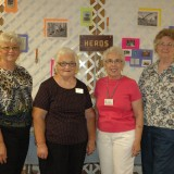 HERBS - Open class winners of the herbs division at the Kosciusko County Community Fair, from left, are Carolyn Zimmerman, Nancy Trump (Best of Show), June Thomas, and Ann McConnell.