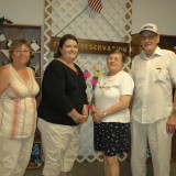 FOOD PRESERVATION - Open class winners of the food preservation division at the Kosciusko County Community Fair, from left, are Kim Long, Olivia Coons (Best of Show), Janet Maull, and Ralph Myers. Not pictured is Rosalie Lee.