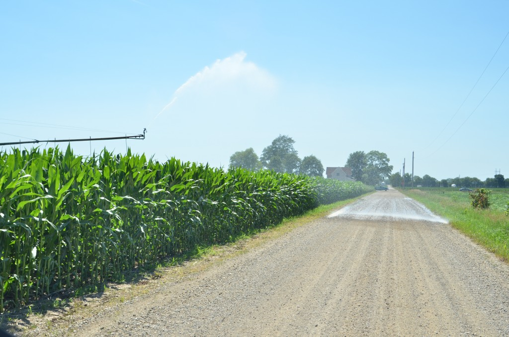 Farmers across Kosciusko County are being asked to reduce the use of irrigation due to overuse of water. (Photo by Deb Patterson)