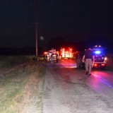 Authorities say Shaun Owens, 32, of Warsaw, died at the scene of this crash on CR 350 West at approximately 9:16 p.m. Thursday after he lost control of his vehicle and over corrected, striking the utility pole. (Photo provided)