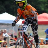 Caden Bowers cruises through the 14 Intermediate group race Saturday morning at Hire Park.