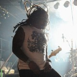 Sevendust lead singer Lajon Witherspoon rocks during 'Inside' at Piere's.