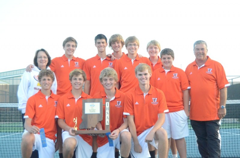 The Warsaw boys tennis team, coached by Rick and Jan Orban, defeated Columbia City 4-1 Friday to win its own sectional championship. The Tigers advance to the regional at Culver Academies Tuesday.