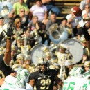 Purdue's Kawann Short (93) gets a fingertip on a Justin Haig field goal attempt.