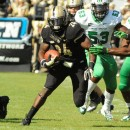 Purdue running back Akeem Shavers finds running room against Marshall.