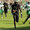 Purdue wide receiver Gary Bush chugs home for a 35-yard touchdown against Marshall Saturday.
