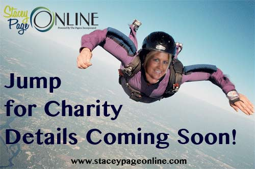 Stacey Page will jump from an airplane for charity soon!