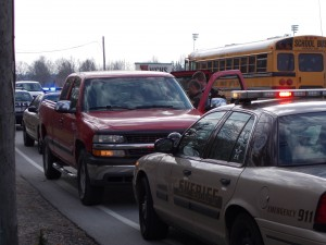 police pursuit, sheriff's department, red chevy truck, wchs