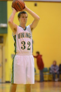 Senior guard Nick Kinding scored a team-high 12 points Friday night in Valley's 57-40 win over Fairfield.