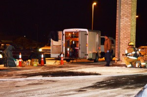 A meth lab was located at the Super 8 Motel in Warsaw Saturday night. (Photo by Stacey Page)