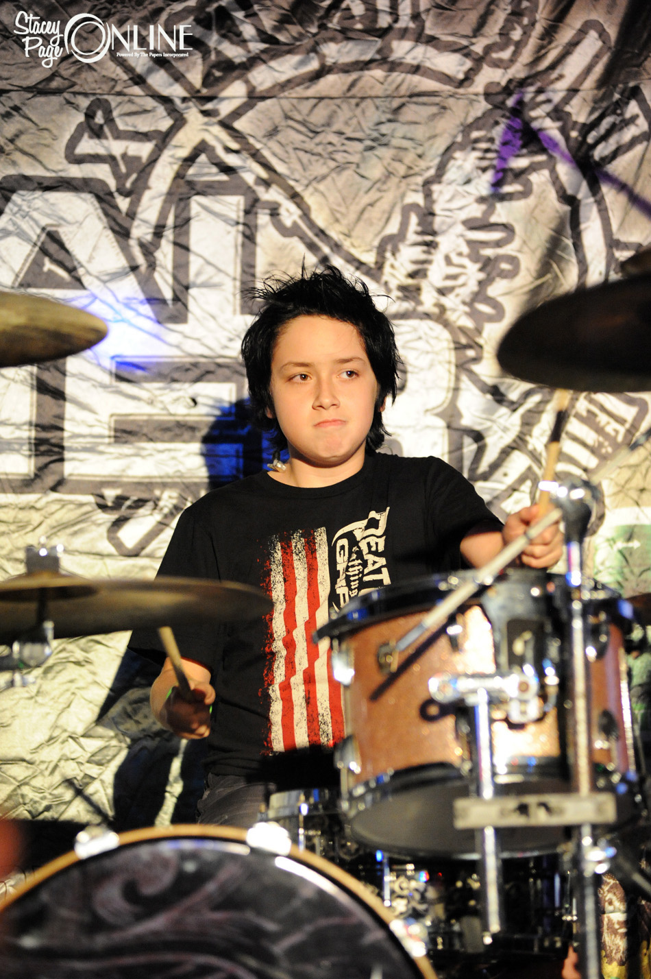 Austin Rios, 12, guest starred on the skins for several shows on the Digital Summer tour.