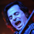 Charm City Devils guitarist Nick Kay performs at Piere's in Fort Wayne.