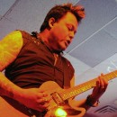 Joe 'Blower' Garvey of Hinder rips a solo to open the band's set at Piere's.