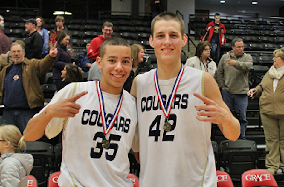 Zarek Finley and Calvin Prinsen of Lakeland Christian Academy earned all-tourney team honors in their own Cougar Classic (Photo provided by Scott Silveus)