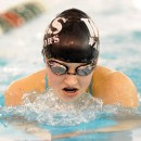 Kayla Hershberger was a four-time winner against Warsaw, including this swim in the IM.