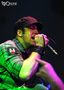 Digital Summer frontman Kyle Winterstein works the bands final tour stop Sunday night at the Warehouse in Valparaiso.