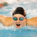 Mikala Mawhorter of Wawasee works through the butterfly.