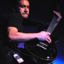 Nonpoint guitarist Dave Lizzio shreds during the band's set Saturday at Piere's.