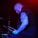 Nonpoint drummer Robb Rivera considers his next beatdown.