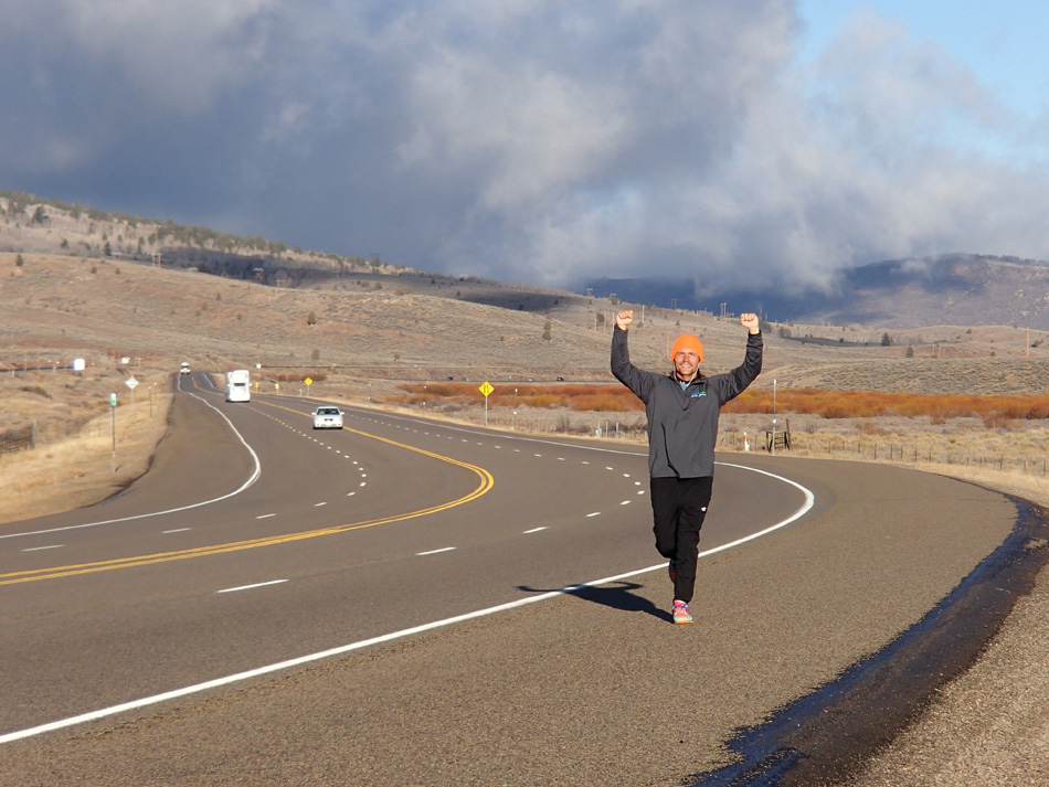 Tommy 'Danger' Locklin passes the 1,000-mile mark of running in Utah while on his 3,200-mile More Than Just Miles fundraising campaign to help those dealing with Cystic Fibrosis. (Photo provided by Tommy Locklin)