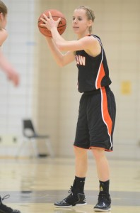 Senior guard Sarah Ray looks for room to operate versus NorthWood Saturday night in Nappanee.