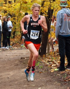 WCHS senior Jake Poyner, shown competing in the New Prairie Semistate this past fall, is headed to Wake Forest (Photo provided by Tim Creason)