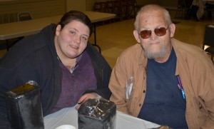 Bill Smith and his daughter, A.J. are frequent guests at The Gathering meals offered by Fellowship Missions.