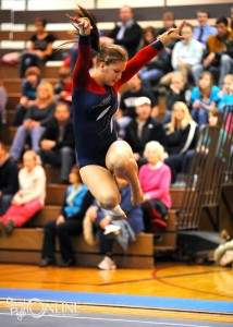 West Noble's Audree Ritchie performs her floor routine.