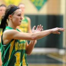 Valley's Danielle Bussard snaps off a pass against Wawasee.