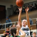 KiLee Knafel drills a jumper over Valley's Kelsey Ball.
