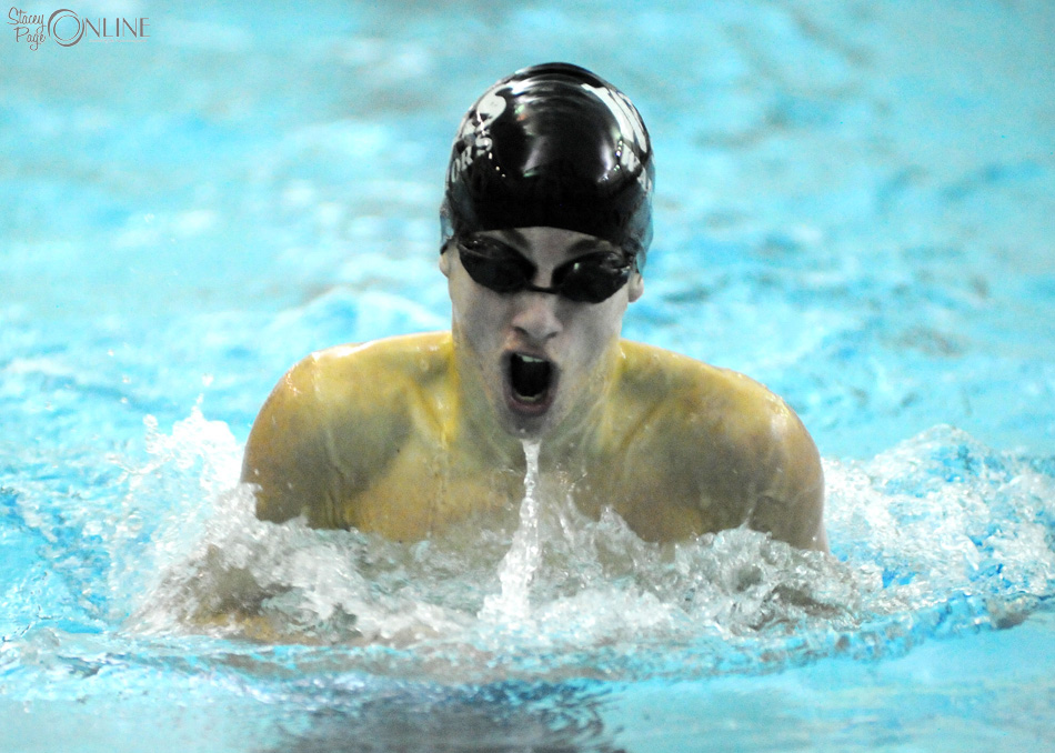 Austin Krizman of Wawasee swims the breaststroke at Goshen Saturday. (Photos by Mike Deak)