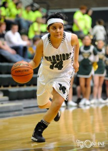 Guard Cassie Martinez advances the ball for Wawasee.