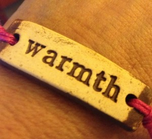 Everyone who goes into Combined Community Services and donates $10 to the Winter Warmth utility assistance program will receive a Mudlove bracelet.