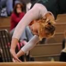 Wawasee's Molly Smith twists toward the vault before winning the event Tuesday night.