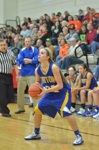 Triton's Kylie Mason had a big third quarter Friday night in a 48-44 win over Culver in sectional semifinal play at Oregon-Davis.