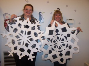 Miss Julie and Miss Tina are getting ready for story time beginning on Wednesday, Feb.  6, at Milford Public Library.