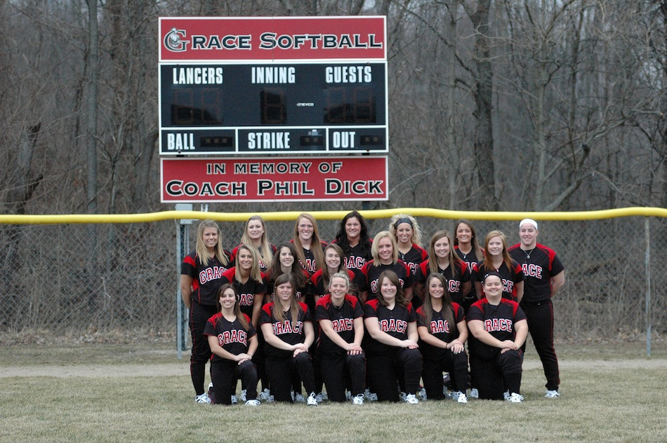 The Grace College softball team, boasting 10 new players on its roster, opens its season Feb. 22 (Photo provided by Grace College Sports Information Department)