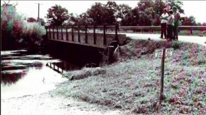 The body of Laurel Jean Mitchell was found in August 1975 at this bridge of the Elkhart River in Noble County. (Police file photo)