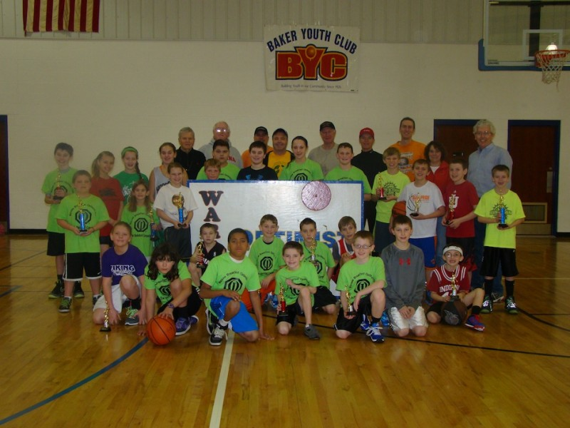 All of the participants in the Tri-Star Basketball Competiton sponsored by the Warsaw Breakfast Optimist Club are shown above (Photo provided)