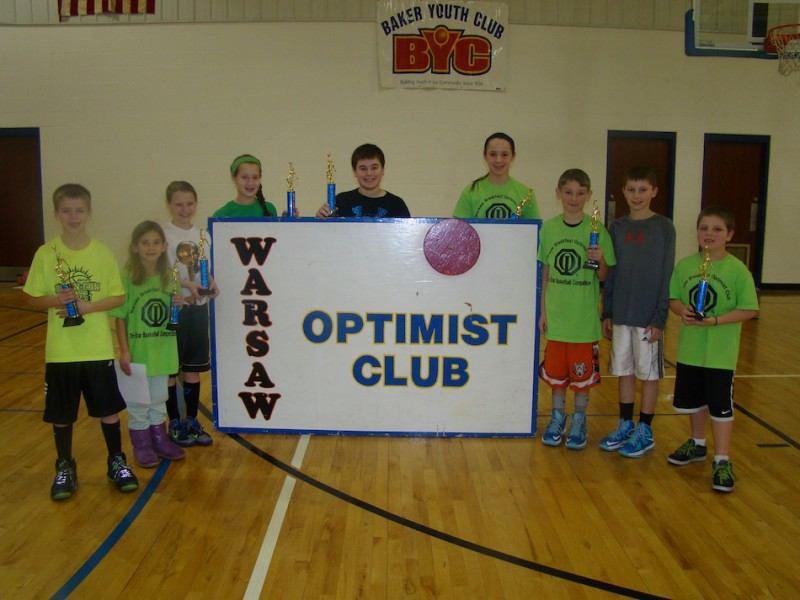Winners in the Warsaw Breakfast Optimist Club's Tri-Star Basketball Competition are shown above (Photo provided)