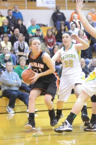 Melanie Holladay drives to the basket versus Northridge Saturday night. The senior helped Warsaw claim its first sectional title since 2004.
