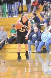 Guard Eryn Leek runs the show for No. 8 Warsaw Saturday night in the sectional final.