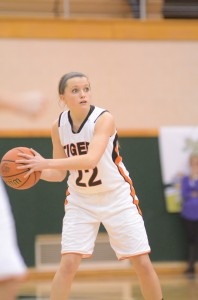 Guard Eryn Leek of Warsaw looks to pass the ball in the regional title game Saturday night.